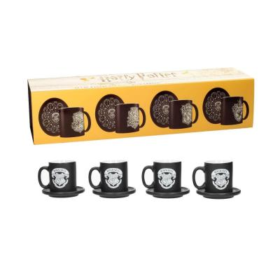 Harry potter pack 4 espresso mugs emblems limited collector edition