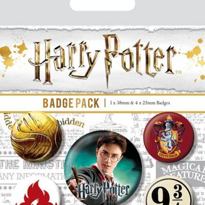 Harry potter pack 5 badges gryffindor