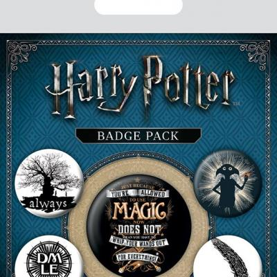 Harry potter pack 5 badges symbols