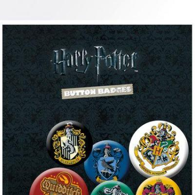 Harry potter pack 6 badges crests