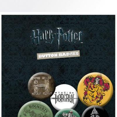 Harry potter pack 6 badges mix