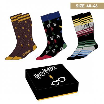 Harry potter pack de 3 paires de chaussettes p40 46