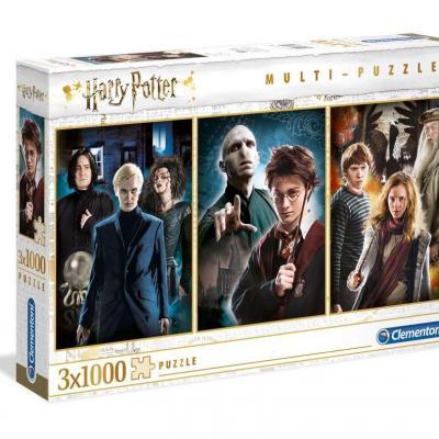 Harry potter pack de 3 puzzles 1000p