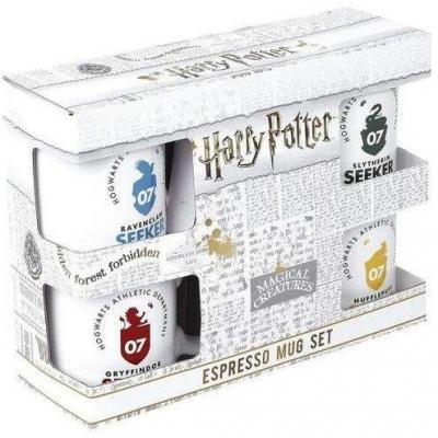 Harry potter pack de 4 tasses espresso ceramique 150ml quidditch