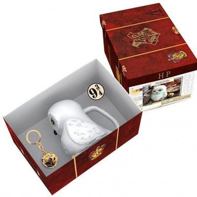 Harry potter pack premium avec mug 3d porte cles 3d pin s
