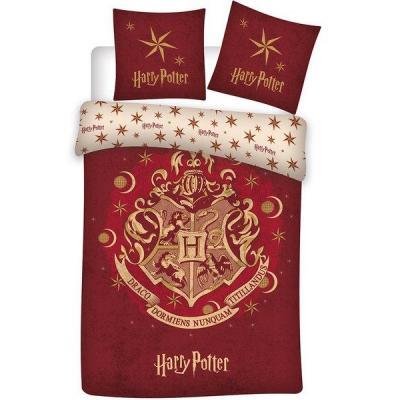 Harry potter parure de lit 140x200cm hogwarts r 100 coton