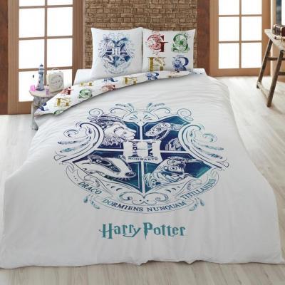 Harry potter parure de lit 200x200cm hogwarts w 100 coton