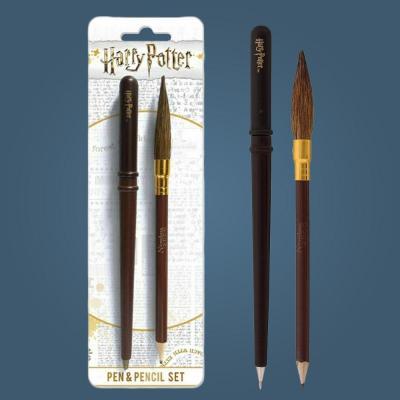 Harry potter pen pencil set wand broon