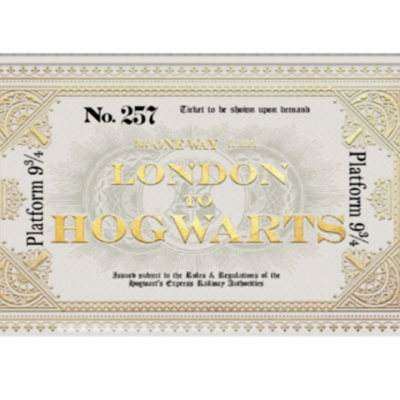 Harry potter pencil case hogwarts express ticket