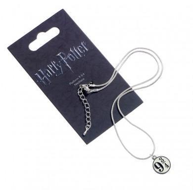 Harry potter pendentif et collier plaque argent platform 9 3 4
