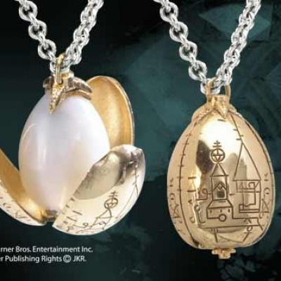 Harry potter pendentif oeuf d or
