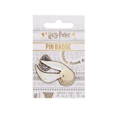 Harry potter pin badge enamel golden snitch