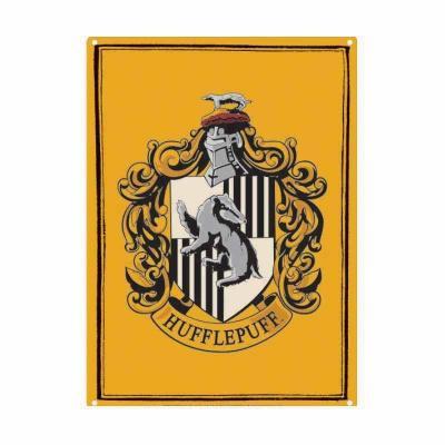 Harry potter plaque metal 21 x 15 hufflepuff