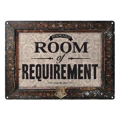 Harry potter plaque metal 21 x 15 room of requirement