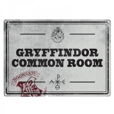 Harry potter plaque metal 21 x 15 salle commune gryffondor