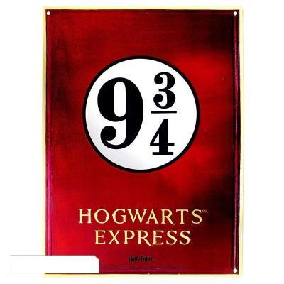 Harry potter plaque metal 28 x 38 plaform 9 3 4