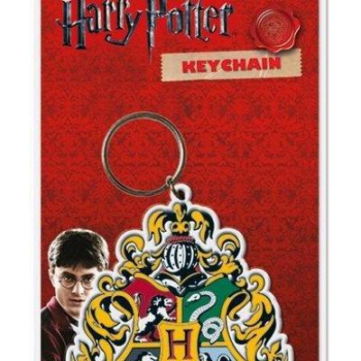 Harry potter porte cles caoutchouc hogwart s crest