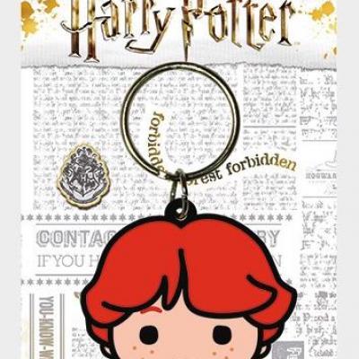 Harry potter porte cles caoutchouc ron chibi