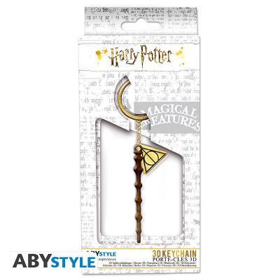 Harry potter porte cles metal 3d baguette de sureau