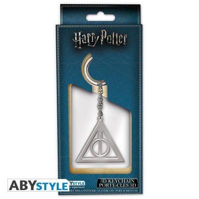 Harry potter porte cles metal 3d reliques de la mort