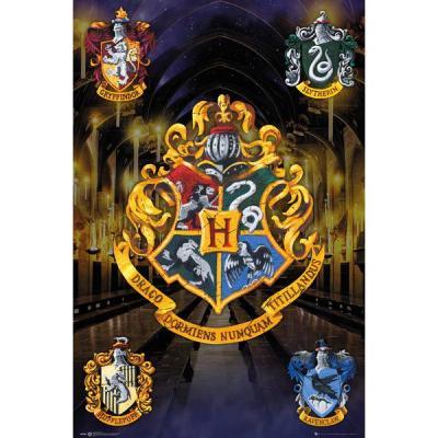 Harry potter poster 61x91 crests