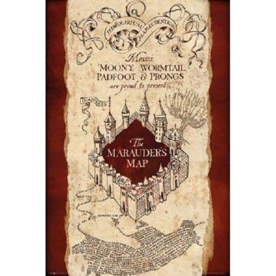 Harry potter poster 61x91 the marauders map
