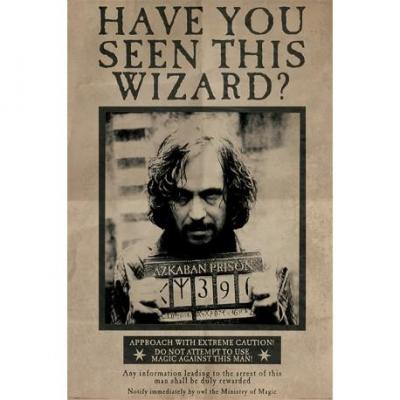 Harry potter poster 61x91 wanted serius black