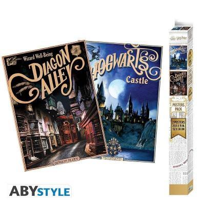 Harry potter poudlard diagon alley set 2 posters 52x38