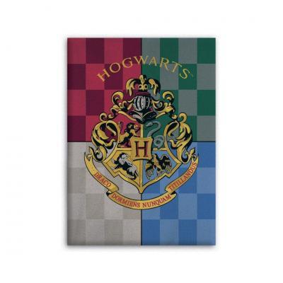 Harry potter poudlard plaid polaire 100 microfibre 70x140cm
