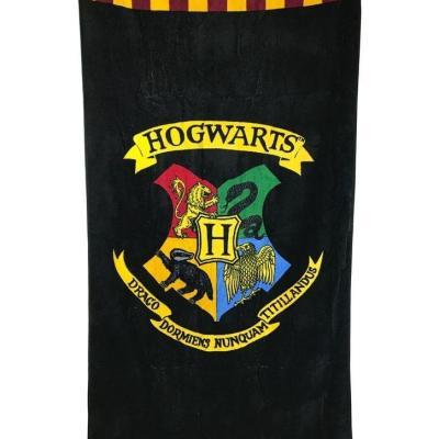 Harry potter poudlard serviette de bain 75x150cm