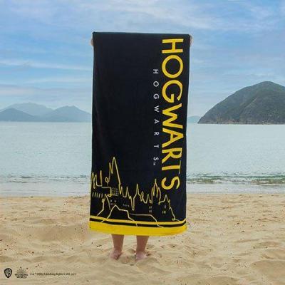 Harry potter poudlard serviette de plage 100 coton 70x140cm