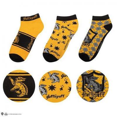Harry potter poufsouffle lot de 3 paires de chaussettes