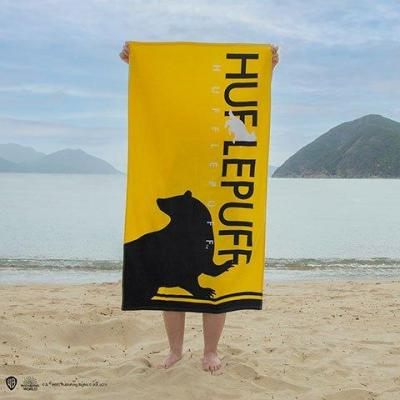 Harry potter poufsouffle serviette de plage 100 coton 70x140cm