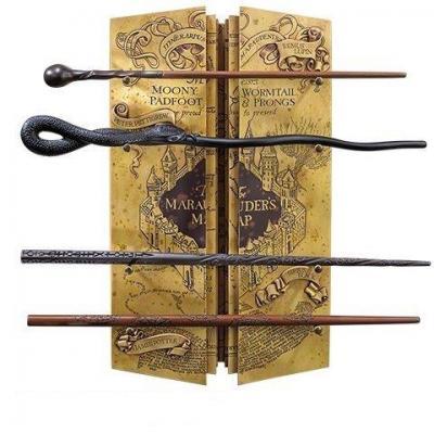 Harry potter presentoir 4 baguettes la carte du maraudeur