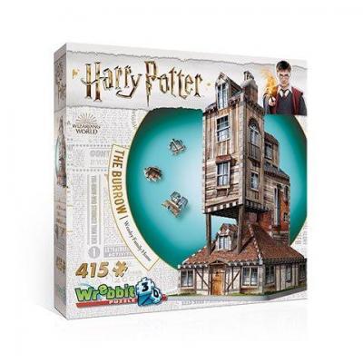 Harry potter puzzle 3d la maison de weasley 415 pces