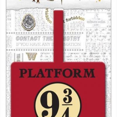 Harry potter quai 9 3 4 etiquette de bagage 10x18