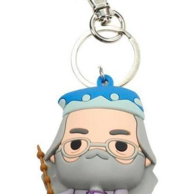 Harry potter rubber figure keychain albus dumbledore
