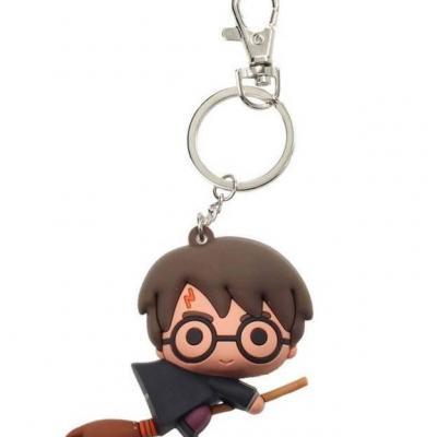 Harry potter rubber figure keychain harry potter nimbus