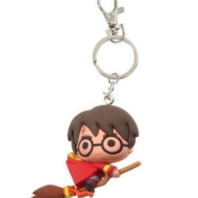 Harry potter rubber figure keychain harry potter quidditch