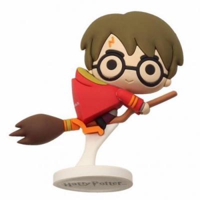 Harry potter rubber mini figure 6cm harry potter nimbus red cap