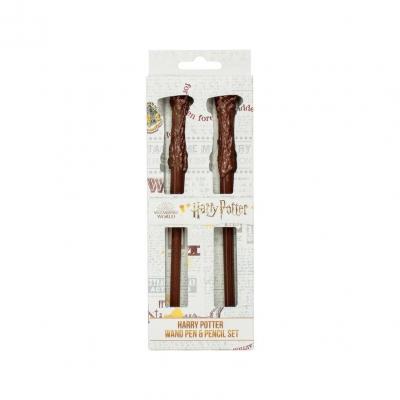 Harry potter set de 2 baguettes stylo crayon