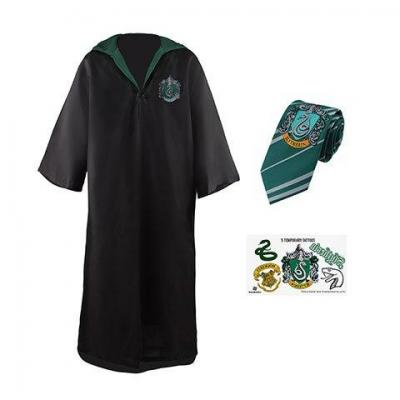Harry potter set robe de sorcier serpentard enfant 110cm xs