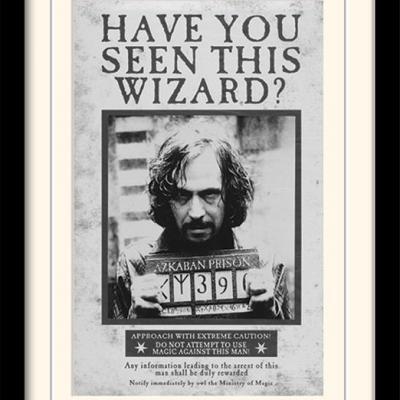 Harry potter sirius wanted impression encadree 30x40