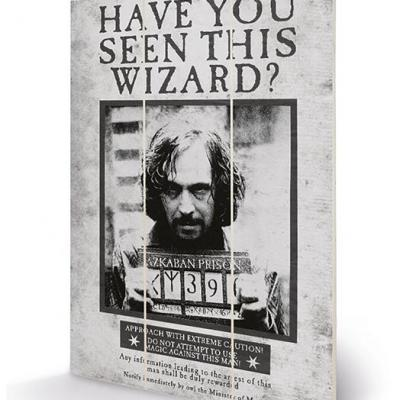 Harry potter sirius wanted impression sur bois 20x29 5