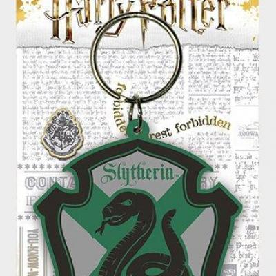 Harry potter slytherin porte cles caoutchouc