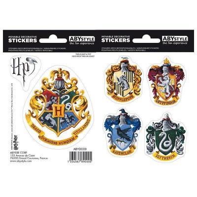Harry potter stickers 16x11cm 2 planches poudlard maisons