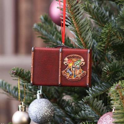 Harry potter valise poudlard decoration de noel 8 3cm