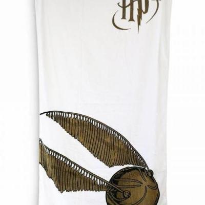 Harry potter vif d or serviette de bain 75x150cm