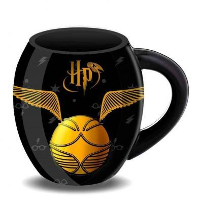 Harry potter vif d or tasse ovale 8x10x8cm