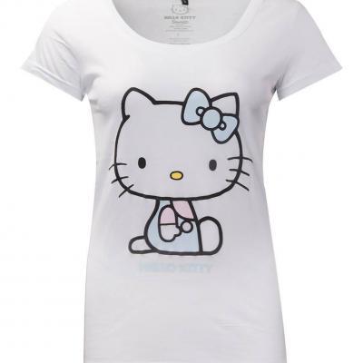 Hello kitty women s t shirt broderies